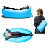 Wholesale Sleeping Bags Hiking Fast Inflatable Air Sofa Waterproof Sleeping Bag Air Sofas Camping Beach Sofa Lounger Bed Banana Lazy Bags Outdoor