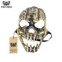 Wholesale Dental Dress - PMYUMAO Terrifying great dental mask Stained Halloween Skull Dress Up Masks 2017 new ugly face of the party mask pm075