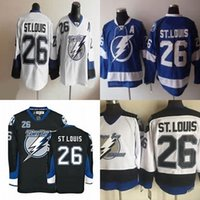 Wholesale Mixed Light S - Hot Sale Mens Tampa Bay Lighting 26 Martin St. Louis Best Quality Cheap Embroidery Logo Ice Hockey Jerseys Accept Mix Order Size S-3XL