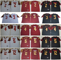 Wholesale Cooking Oranges - Mens ACC FSU Florida State Seminoles NCAA College Football Jerseys #2 Deion Sanders 3 James 4 Cook 5 Winston 12 Deondre Francois Jersey