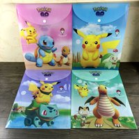 Wholesale Poke A4 Document Bags Cartoon PVC File Folder Expanding Wallet Bag Office Stationery Folders for Students cm DHL
