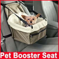 Wholesale Dog Car Booster Seats - Pet Dog Puppy Cat Car Seat Booster Seat Carrier Car Auto Vehicle Leash Foldable Pet Dog Car Carrier Bag Pet Car Seat Cover