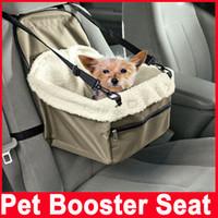 destekleyici koltuklar toptan satış-Pet Köpek Yavru Kedi Araba Koltuğu Booster Koltuk Taşıyıcı Araba Oto Araç Tasma Katlanabilir Pet Köpek Araba Taşıyıcı Çanta Pet Araba ...