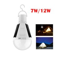 7W 12W E27 Solar Powered LED Bulbo Lâmpada de Emergência Recarregável para Camping / Caminhada / Solar Barn / Tent / Fishing / Emergency Lighting Indoor