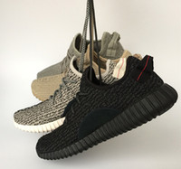 Wholesale Low Price Box Springs - (double box) Factory price TOP 350 Boost Sneakers Kanye west Training Shoes Moonrock Oxford Tan Pirate Black Turtle dove