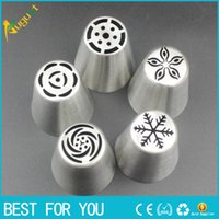 Wholesale Cake Mouth Nozzle - Stainless Steel Ice Cream Dessert Tools Special Decorating Mouth Cake Decorating Tips Icing Nozzle Baking Pastry Tools