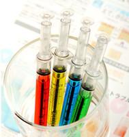 Wholesale Liquid Syringe Pens - Doctor Nurse Gift Liquid Syringe Injection Ballpoint Pen Ballpen Hot Sales Brand New Good Quality Free Shipping