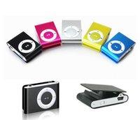 veio jogador venda por atacado-2016 Mini Clip MP3 Player QUENTE! Cheap Colorful Sport mp3 players vêm com fone de ouvido, suporte a cabo USB, caixa de varejo, cartões Micro SD TF