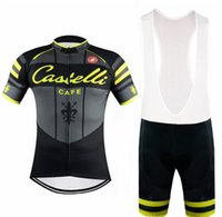 Wholesale Castelli Clothing - Castelli 2016 Tour De France cycling jersey Fluo With bib None Bib shorts Bike Wear Compressed Bicycle Clothing
