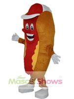 Wholesale Hotdog Dog - Hotdog Hot Dog Mascot Costume Fast Food Hallowen Costume Adult Fancy Dress Cartoon Character Party Outfit Suit
