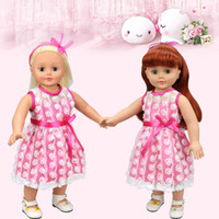 Wholesale Pink Doll Clothing - Christmas Gifts For Children Girls Doll Accessories Handmade Princess Dress For 18'' American Girl Dolls Clothes variety of options YF279