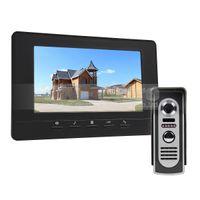 Wholesale Intercom W Screen - 7inch Video Intercom Video Door Phone 800 x 480 HD Screen 600TV Line IR Night Vision Outdoor Camera Black 1v1