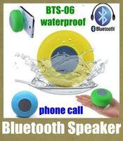 mini reproductor portátil de china al por mayor-Mini altavoces de succión IPX4 colores portátil impermeable inalámbrico Bluetooth Altavoz ducha Coche manos libres Recibir llamada Reproductor de micrófono Promoción