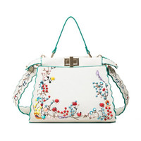 Wholesale Small Kittens - Designer Handbags Women Luxury Embroidery Kitten Leather Famous Brand Rivets Shoulder Fashion Handbags Ladies Messenger Bag Crossbody Bags