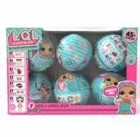 Wholesale Dress Up Set Kids - 6pcs set Series 1 LOL Surprise Doll Color Change Egg Ball Toys Dress Up Toy Action Figure Dolls Funny Toys Girls Gift Randomly