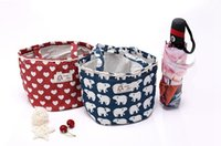 Wholesale Cool Lunch Totes - Factory direct Lunch Container Bag Cute pattern Lunch cooler bags Cotton and linen personalized tote cooler bags