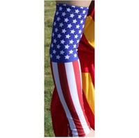 Wholesale Survivor Man - 2017 US flag arm sleeve Hope faith love ribbon survivor Arm Sleeve I'M A SURVIVOR Compression Arm Sleeve breast cancer awareness pink