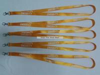Wholesale Orange Lanyards Wholesale - 15MM width cheap lanyards orange lanyard discount print logo lanyards good promotion for your business 50pcs lot