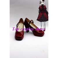 Wholesale Cosplay K Anime - Wholesale-Freeshipping custom-made anime K Anna Kushina Cosplay Shoes Boots high heel for party Halloween Christmas festival