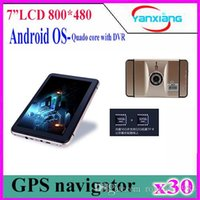 Wholesale Hungarian Android Capacitive - 7 inch GPS Android Navigation Capacitive Screen Car dvrs Recorder camcorder FM WIFI Truck vehicle gps Built in 8GB Free Map 30cs ZY-DVR-001