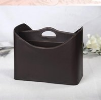 New Fashion Home Leather Gift Basket Storage Basket For Newspaper Magazine Clothes Sundries Wine 280b