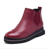 sola de borracha botas de couro genuíno venda por atacado-Oxford Flats Sapatos Botas de Tornozelo de Couro de Vaca Mulher Mulher Moda Feminina de Couro Genuíno Solas De Borracha Superstar Sapatos Casuais