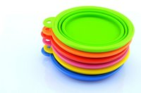 Wholesale Up Environmental - Fashion Environmental Eco-Friendly Dogs Cats Pets Travel Feeding Food Pop-UP Collapsible Plastic Silicone Folding Portable Bowls Feeder