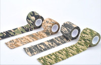 Wholesale Rifle Shooting Sports - 30PCS Kombat Army Jungle Camo Wrap Rifle Shooting Camouflage elastic tape Kinesiology Sports self adhesive Bandage
