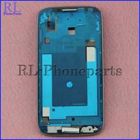 63a51881dcf 10 unids / lote Para Samsung Galaxy S4 I337 M919 Marco LCD Genuino + Nueva  Cubierta Frontal Marco Medio Bisel Placa + Botón de Inicio