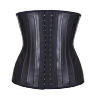 ingrosso bustier in gomma-Corsetto di gomma 25 acciaio disossato addome shaper del corpo stretto emulsione addome bustier e corsetti vita trainer per le donne T8405