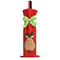сумка для горячих бутылок оптовых-Wholesale- JY 27 Mosunx Business 2016 Hot Selling Wine Bottle Cover Bags Decoration Home Party Santa Claus Christmas