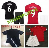 Wholesale Foot Patches - TOP QUALITY 2017 2018 NEW Man Utd ROONEY soccer jersey WITH PATCH 17 18 POGBA men kits shirt IBRAHIMOVIC Camiseta de futbol maillot de foot