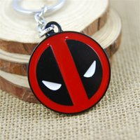 Wholesale Deadpool Accessories - Deadpool Mask Metal Keychain Super Hero Figure Accessories Metal Pendant Comic Chaveiro Stainless Steel Key Ring 170438