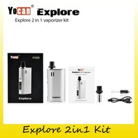 Wholesale Herb Oil Wax Vaporizer - Authentic Yocan Explore Kit with 2 in 1 Vaporizer For Wax & Herb oil 2600mah Battery Box Mod For Wax&Dry Herb Vaporizer 100% Genuine 2204044
