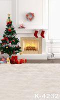 Wholesale Christmas Scenic Backdrops - 2016 NEW 5X7ft Christmas Fireplace Background Scenic Backdrop For Wedding Backgrounds Computer Printed Photos Vinyl Backdrop Photograp