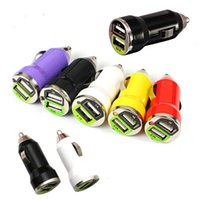 Wholesale Car Accessories Uk - Mini Bullet Dual USB 2 Ports Car Charge Adapter Traveling Accessory Universal Charging For iphone 6 6s plus Samsung S6 S6 edge plus