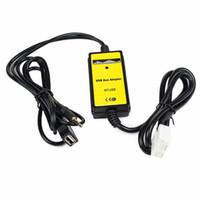 araba radyosu için usb kabloları toptan satış-Oto Araba USB 3.5mm Aux Adaptörü MP3 Çalar Kablosu Radyo Arabirimi Araba AUX Kablo Fit Honda Accord Civic Odys ...