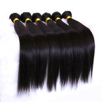 Wholesale Thick Brazilian Hair - Unprocessed 8A Brazilian Virgin Straight Hair Peruvian Malaysian Indian Cambodian Human Hair Weave 3 4 5Bundles Soft Thick Dyeable Extension