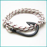 Wholesale Infinity Charms 5pcs - FREE SHIPPING 5PCS LOT best selling 2016 Style Anchor bracelet Infinity bracelet Wrap Rope Charm Fish Hook Bracelets Rope For Men