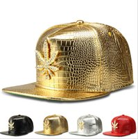 Wholesale Winter Hat Top Ball - Wed Snapbacks Caps Hats Hip-hop Caps Wed baseball caps Gold Leather Wed snapback hats for men women adjustable snapbacks Top Quality D472