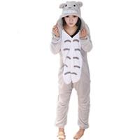 nachbar totoro kostüm großhandel-Japanische Anime Mein Nachbar Totoro Overall Nachtwäsche Nachtwäsche Totoro Cosplay Kostüm Totoro Onesie Pyjamas Pyjamas Feminino Männer Overall