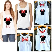 Wholesale Minnie Tank Top - Wholesale-Women Summer Top New Arrival 2016 Fashion Sexy Womans Minnie Mouse Bow Back Tank