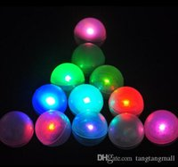pearl led balloons achat en gros de-Fairy LED Pearls Décoration de mariage 2CM Mini Colorful Petite batterie Led Berries Waterproof Floating LED Lights Party Holiday balloon lights