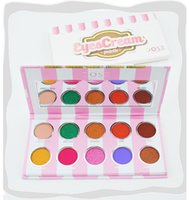 Wholesale Ice Cream Eye - New Christmas ice cream 10 colors waterproof eye shadow holiday makeup Dose of colors eyeshadow eyescream palette