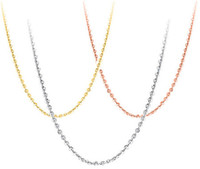genişletilmiş zincir toptan satış-925 gümüş kolye diy kolye gümüş kadın takı çapraz zincir beyaz altın parlak altın gül ince moda zincirleri uzatmak 40 + 5 cm 6 adet
