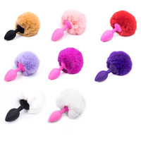 Wholesale Tail Anal Plugs Sexy Women - New 1Pc Metal Butt Plug Sexy Short Rabbit Tail Anal Sex Toys for Men Gay Women Anal Tail Plug Erotic Butt Plugs Sex Products