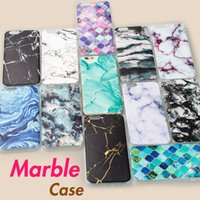 Wholesale Iphone Cases Stones - Marble Stone Case for iphone X 8 Plus Soft Silicone Phone Case Cover for iphone 7 6 6s Plus i6s 5S 5