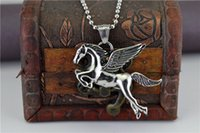 Wholesale Cheap Horse Necklaces - High-grade Restore ancient ways Cheap High quality Horse Pendant Necklace transport Jewelry Titanium steel Classic Fashion Necklaces