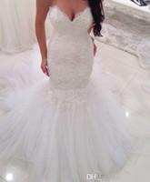 best plus size customized wedding dress - Vintage Mermaid Arabic Wedding Dresses 2016 Sweetheart Appliques Lace Court Train Plus Size Bridal Gowns Vestido De Novia Customized