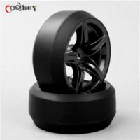 Wholesale Wholesale Drift Rc - 4pcs 1:10 RC Drift Tires&Wheels hub Rim for HSP HPI On-Road Racing Car tire